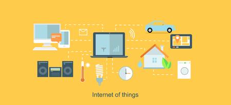 Het internet van de dingen icon plat ontwerp.