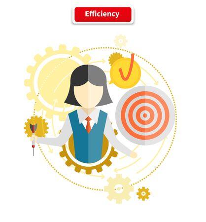 eficiencia: Icono de la eficiencia concepto de estilo plano.