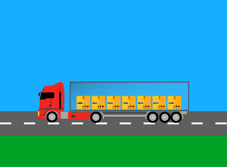 truck driver: Trucks lorry icon design style flat.  Car and transportation, van and delivery truck, semi truck, truck driver, lorry and delivery, transport cargo, business logistic illustration