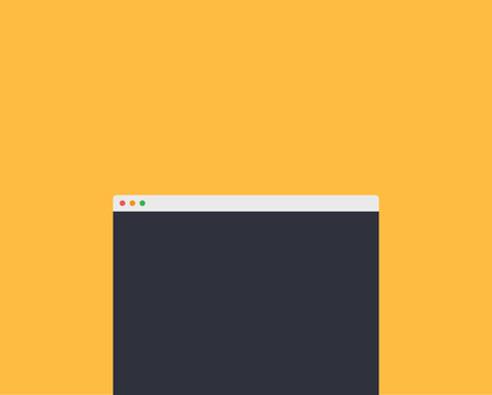 window display: Mockup web page window design style. Interface site,  webpage internet, element frame, browser display, banner form screen, digital scale illustration