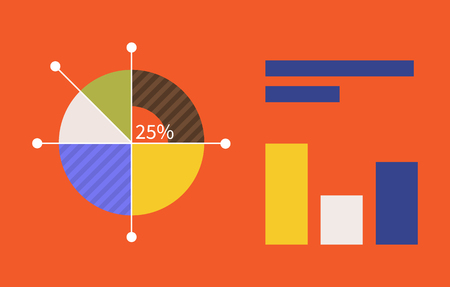 Pie Chart Flat Sign Design Concept Graph Pie Infographics And