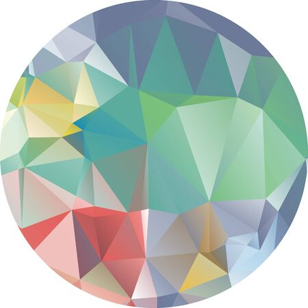 green technology: Abstract geometric background. Multicolored triangles background. Beautiful inscription. Triangle background with bright lines. Pattern of crystal geometric shapes