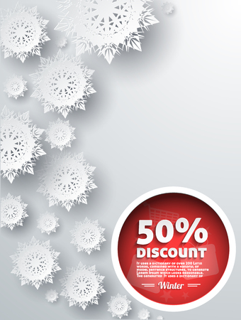 sellout: Winter discount best choice design flat. Sale and coupon, offer shopping, promotion and save money, winter christmas,  label and price, advertising buy, special retail illustration Illustration