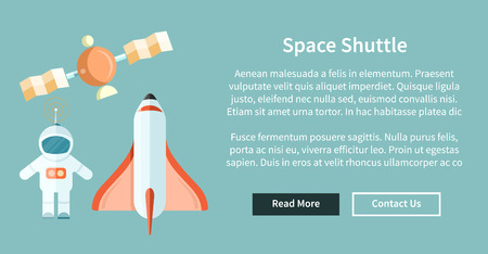 sputnik: Space shuttle and astronomy web page. Illustration