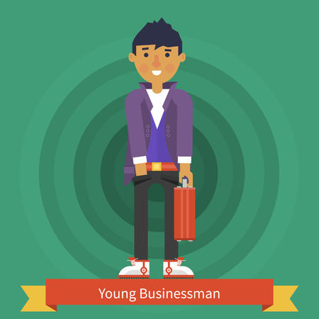 young businessman: Young businessman character design. Illustration