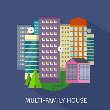 Multi-family house design flat.