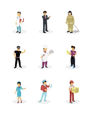 popular: Characters set popular professions.