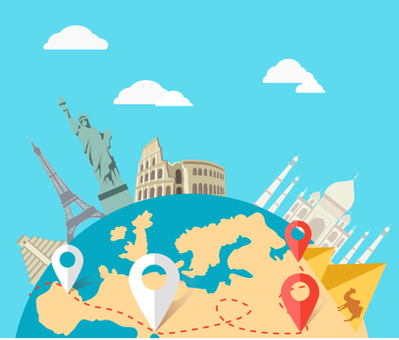 globe terrestre: Monde Voyage d'aventure. Illustration