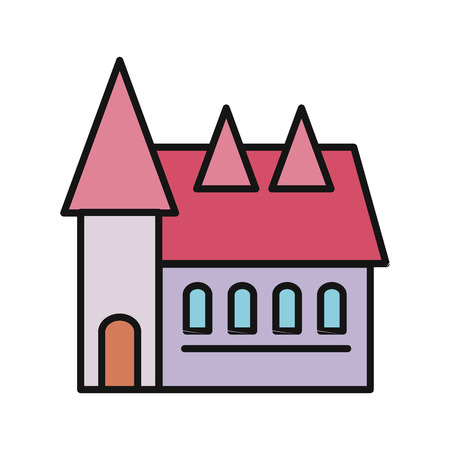 real estate house: Real estate concept. Small house. House icon. Isolated house. Home house in flat design style. Colorful residential houses. Home, building, house exterior, real estate,  family house, modern house Illustration