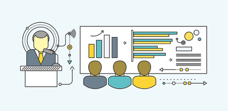 increase diagram: Forecast business growth graph, finance market progress chart, financial investment, profit marketing, diagram stock increase, report and statistic data. Startup teamwork brainstorming office meeting Illustration