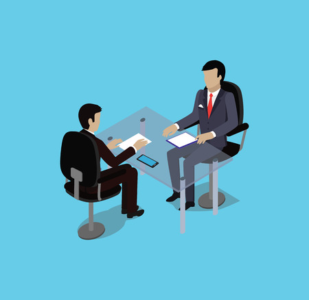 interview: Isometric hiring recruiting interview. Look resume applicant employer. Hands Hold CV profile. Isometric 3d HR, recruiting, we are hiring. Candidate job position. Hire and interviewer. Business meeting