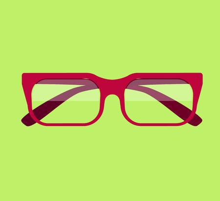 Classic glasses icon. Glasses isolated. Glasses model icons, man, women frames. Eyeglasses isolated. Hipster glasses. Club glasses. Office glasses. Metal framed geek glasses vintage. Vector glasses Illustration