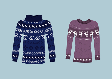 jumpers: Winter warm sweater handmade, svitshot, jumper for knit. Sweater Icon. Womens sweaters, mens sweater, unisex sweater. Sweaters or jumpers with deers icons. Christmas, New Year. Isolated sweater