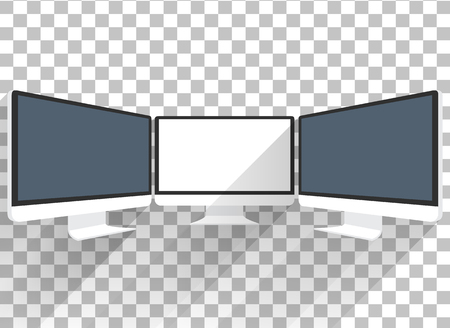 Computermonitor geïsoleerd. Computer monitor. Beeldscherm van de computer geïsoleerd. Zwart scherm. lcd tv monitor geïsoleerd. Icoon van de monitor. Computer monitor icoon. Platte monitor. Vector computer monitor Stockfoto - 51809962
