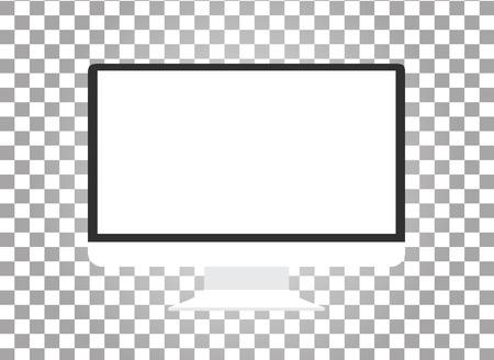 Computermonitor geïsoleerd. Computer monitor. Beeldscherm van de computer geïsoleerd. Zwart scherm. lcd tv monitor geïsoleerd. Icoon van de monitor. Computer monitor icoon. Platte monitor. Vector computer monitor Vector Illustratie