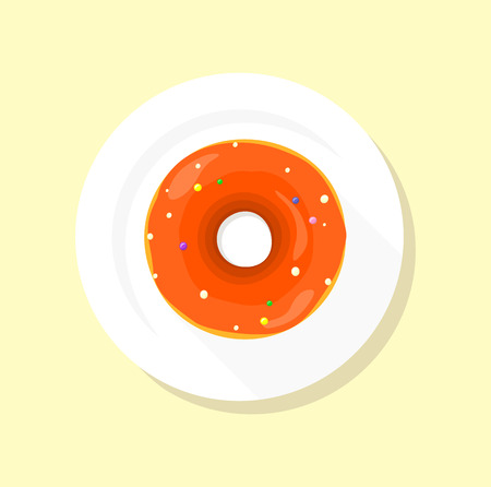 donut shop: Donut logo. Sweet donuts design flat food. Doughnut, donuts coffee, donut isolated, coffee and cookies, cake bakery dessert menu, snack pastry, tasty. Donuts shop. Donut icon. Donuts glaze