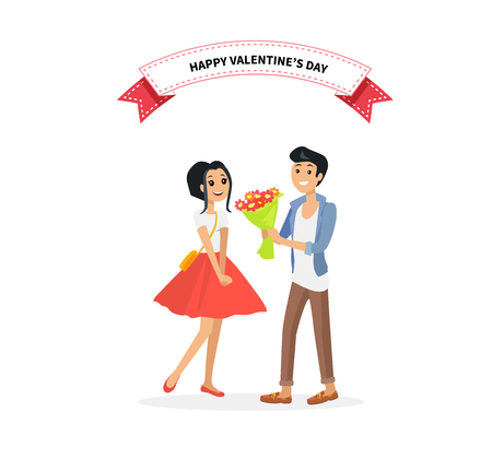 couples: Happy valentine day couple on date. Man give flower woman. Valentine and day, couple and valentines day, happy valentine, couple in love, young couple, love and happy couple, flower and event