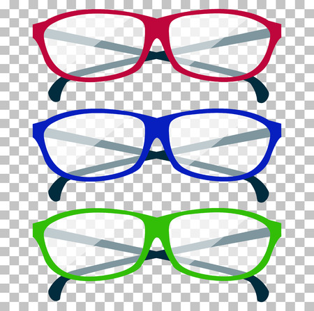 Classic Glasses Icon. Glasses Isolated. Glasses Model Icons ...