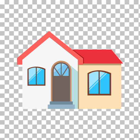 residential home: Real estate concept. Small house. House icon. Isolated house. Home house in flat design style. Colorful residential houses. Home, building, house exterior, real estate,  family house, modern house Illustration