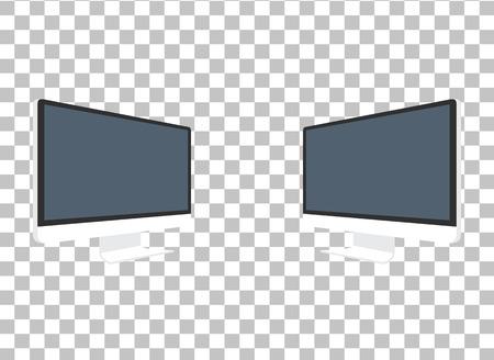コンピューターのモニターが分離されました。コンピューターのモニターを表示します。コンピューターのディスプレイが分離されました。真っ黒