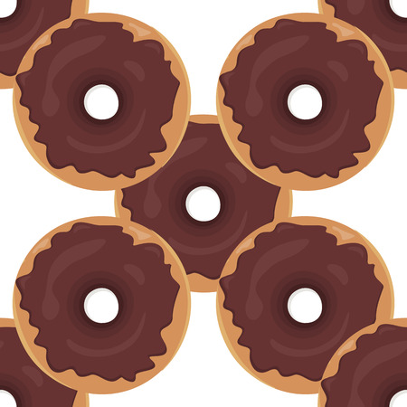 donuts: Donut seamless background texture pattern. Cute donuts with glazing. Seamless pattern. Delicious donut glazed. Donut pattern. Vector donuts pattern. Chocolate donuts. Isolated donuts seamless pattern Illustration
