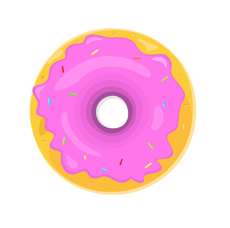 donuts: Donut logo. Sweet donuts design flat food. Doughnut, donuts coffee, donut isolated, coffee and cookies, cake bakery, dessert menu, snack pastry, tasty. Donuts shop. Donut icon. Donuts glaze