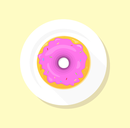 donut shop: Donut logo. Sweet donuts design flat food. Doughnut, donuts coffee, donut isolated, coffee and cookies, cake bakery, dessert menu, snack pastry, tasty. Donuts shop. Donut icon. Donuts glaze