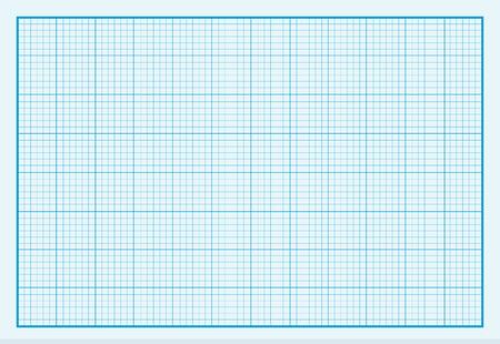 方眼紙背景デザインがフラット。グラフと紙、方眼紙の背景のグリッド紙、罫紙、グラフ紙の質感、背景グリッド紙、空の正方形のグラフ、青のパ  イラスト・ベクター素材