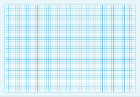 Grafiek papier achtergrond ontwerp plat. Grafiek en papier, grafiek papier achtergrond, net papier, gevoerd document, grafiek papier textuur, achtergrond raster papier, lege vierkante grafiek, blauw patroon grafiek illustratie Stock Illustratie