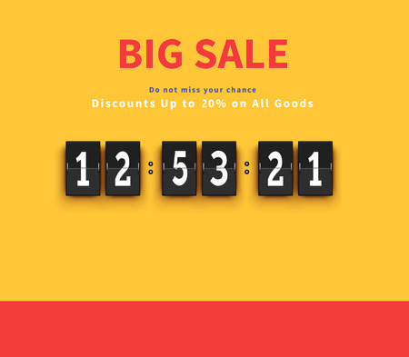 countdown: Opening soon. Big sale countdown. Sale big, discount and big savings, huge sale, sale banner, promotion shopping, countdown time, special bog sale, offer banner sale, retail banner timer illustration Illustration