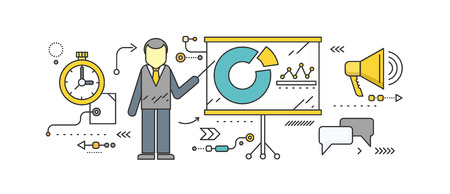 Forecast concept icon flat style. Business growth graph, finance market progress chart, financial investment, profit marketing, diagram stock increase, report and statistic data illustration