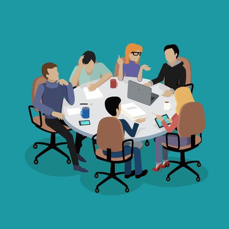 Treffen und Diskussionen Unterrichtung.