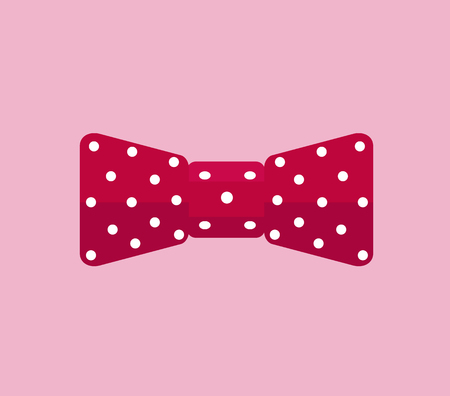 business cloth: Business accessory bow tie design flat. Bow tie for business, accessory and bow tie vector, man bow tie, bow tie, cloth for suit, fashion wear bow tie, elegance necktie, knot bow tie illustration Illustration