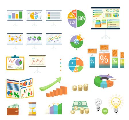 data: Data tools finance diagram and graphic. Data and tool, chart and graphic, business data tools, diagram data finance, graph report data, information data statistic, analysis tools data illustration Illustration