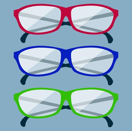 glasses icon: Classic glasses icon. Glasses isolated. Glasses model icons, man, women frames. Eyeglasses isolated. Hipster glasses. Club glasses. Office glasses. Metal framed geek glasses vintage. Illustration