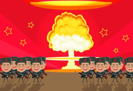 nuclear bomb: Bomb nuclear explosion design flat.
