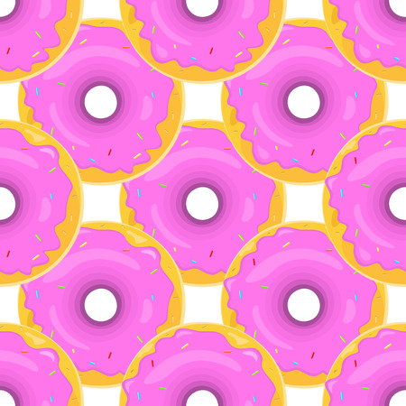 glazing: Cute donuts with glazing.