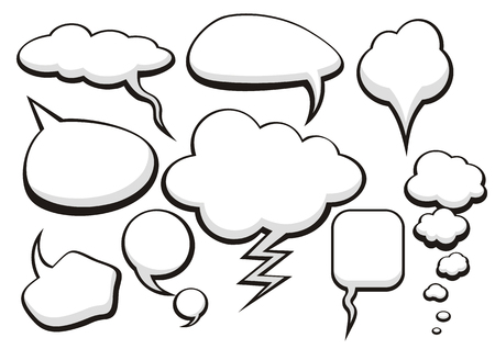 thought clouds: Think bubble set. Talk bubble collection sketch drawing. Thought sketch bubbles. Sketchy comic speech bubble. Hand drawn set sketch speech bubbles clouds rounds. Thought doodle bubbles design elements