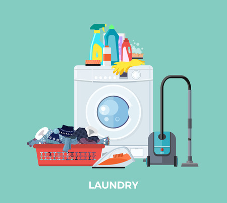 auto washing: Laundry washing machine.
