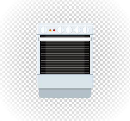 gas cooker: Sale of household appliances stove. Illustration