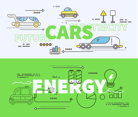 automobile industry: Car of future energy electricity. Car future, energy car, electricity car, power car technology, transport car, transportation car vehicle car fuel electric, automobile green car illustration