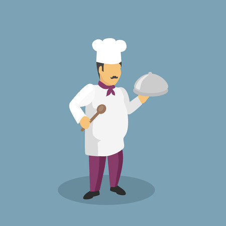 baker cartoon: Profession cooks character design flat. Profession and cook, professional cooks, kitchen culinary, chef man in uniform, cooking and restaurant chef,  job person chef, character chef illustration