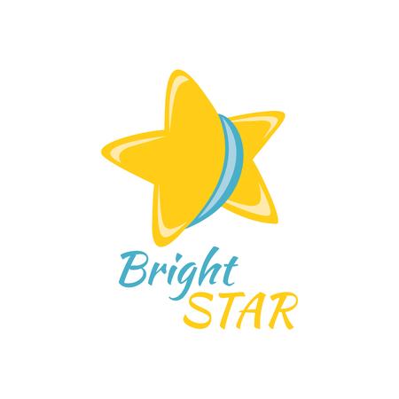 明るい星のアイコン署名ロゴ バッジ。