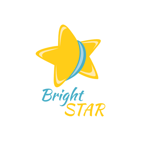 golden star: Bright star icon sign logo badge. Illustration