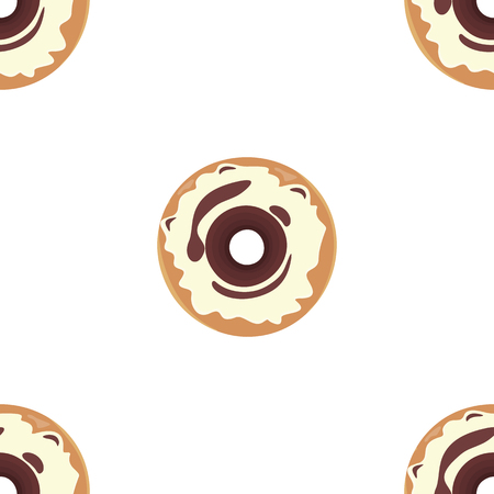 donuts: Donut seamless background texture pattern. Illustration