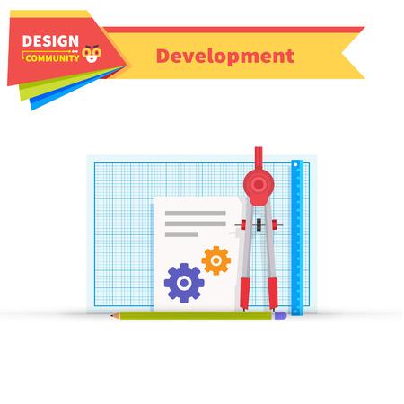 developing: Developing solution design flat.