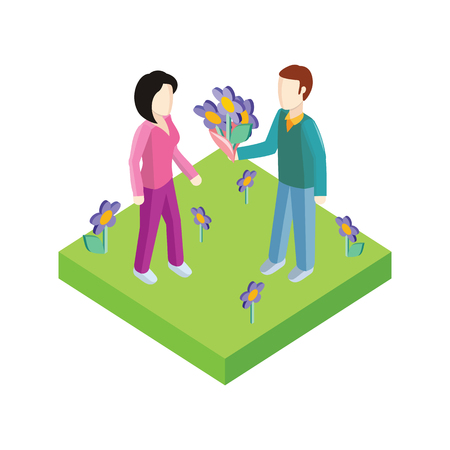 womans day: Greeting card 8 march woman day. 3d 8 march, greeting card, womans day, flowers and international womens day, spring holiday, march 8 day, celebration woman 8 march day. Man give flower woman