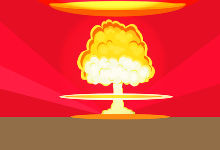 nuclear bomb: Bomb nuclear explosion design flat.