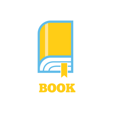 novel: New book icon flat style design. Book . New book cover, modern book, novel and book store, library and book spine, paper and information, literature education vector illustration Illustration