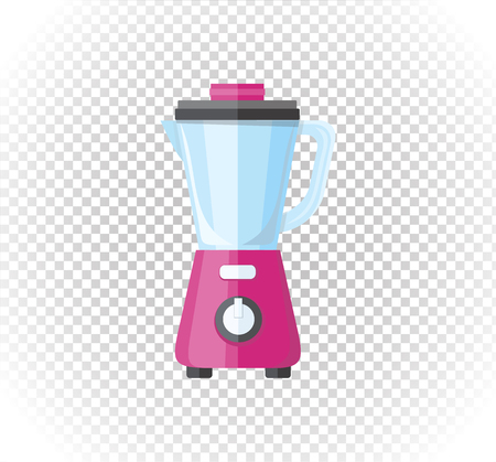 food processor: Sale of household appliances. Electronic device red mixer, blender. Mixer in flat style. Blender isolated, smoothie food processor, juicer Illustration